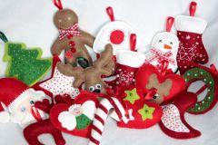 Новогодние игрушки из фетра