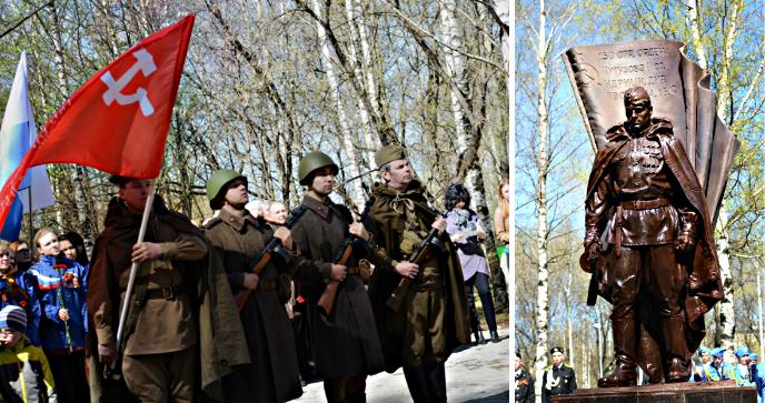 В Парке Победы установлен памятник Григорию Булатову