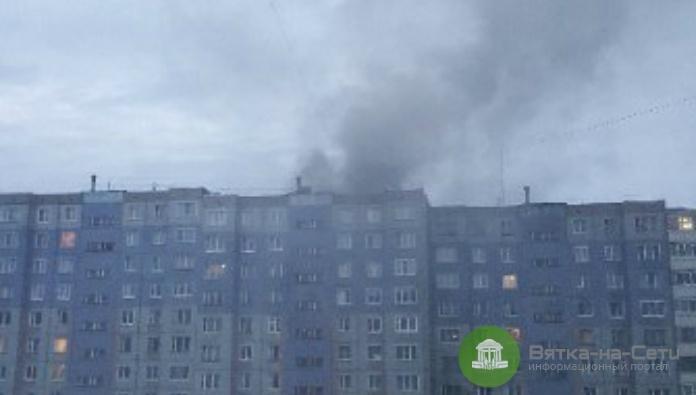 В Кирове горели две квартиры в доме на Московской