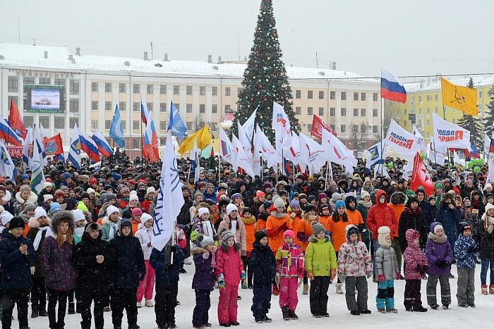 Акция в поддержку олимпийцев в Кирове собрала порядка 4,5 тысяч человек
