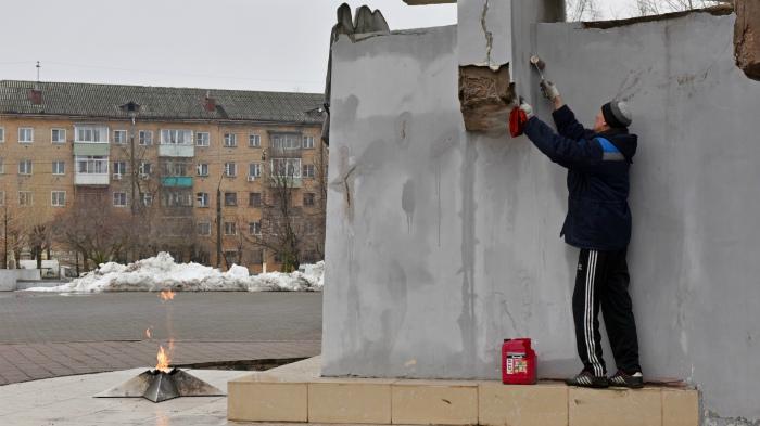 В парке Победы начался ремонт стелы