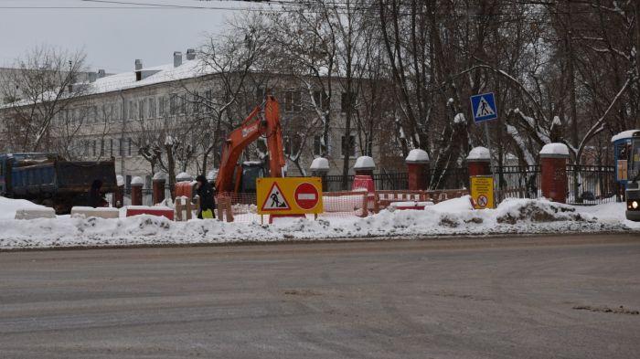 Ограничение движение по улице Попова продлится до 30 июня