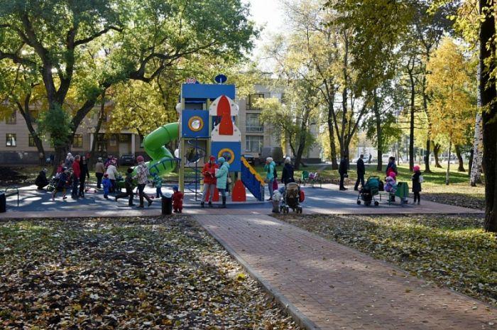 В парке имени Гагарина открылся космический городок