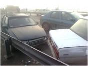 19 автомобилей столкнулись на новом мосту в Кирове