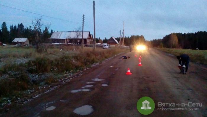 В Афанасьевском районе авто переехало лежащую на дороге пенсионерку