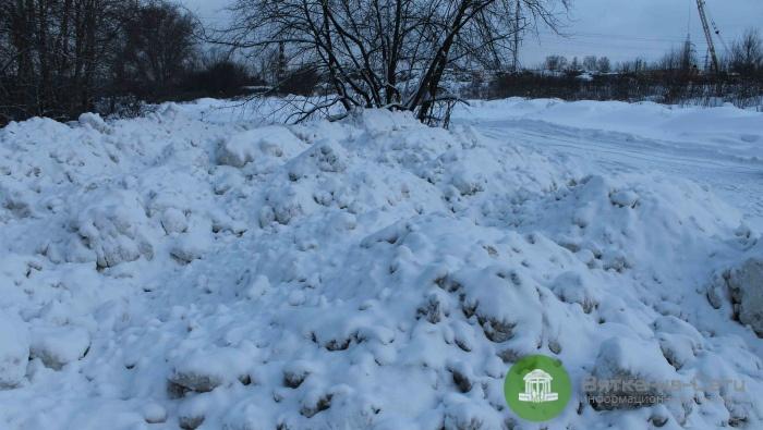 В Кирове обнаружена незаконная свалка снега