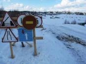 В области открыли первую ледовую переправу