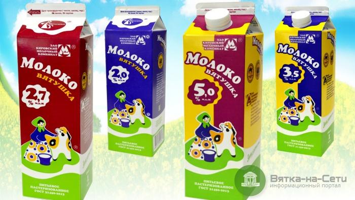 Молоко марки «Вятушка» признано одним из лучших в России