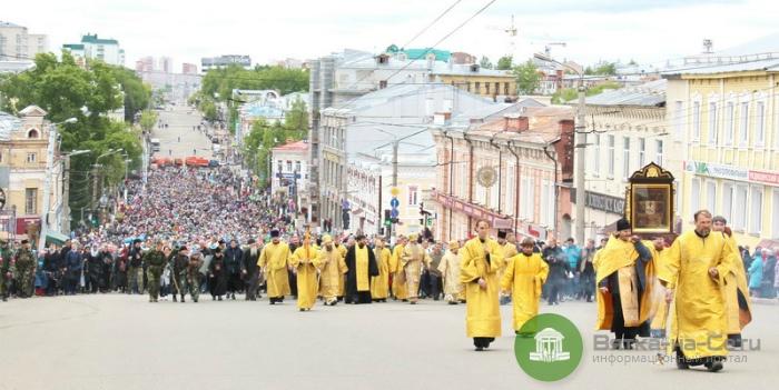 3 июня из-за Великорецкого крестного хода перекроют часть улиц Кирова