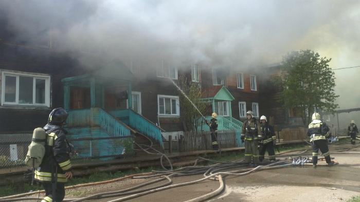 Сегодня в Вересниках произошел пожар в деревянном доме