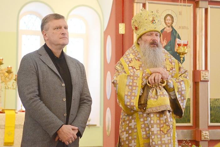 В обновлённом храме Рождества Христова прошла первая служба
