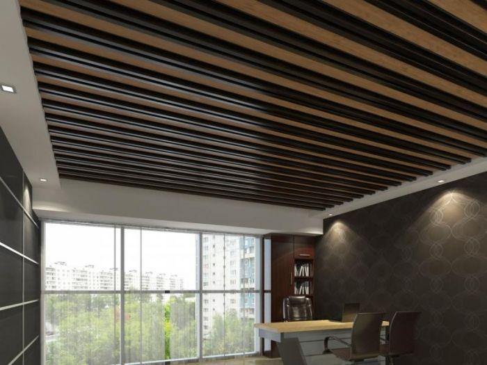 Реечный потолок - практичный и эстетичный выбор для современных офисов