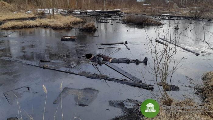 Следователи рассказали, от чего погиб мужчина, обнаруженный в мазутном «озере» в Яранске