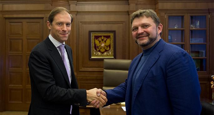 Никита Белых встретился с министром промышленности и торговли РФ Денисом Мантуровым