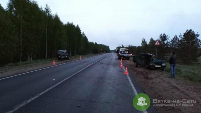 В Верхошижемском районе столкнулись два ВАЗа, один из водителей погиб