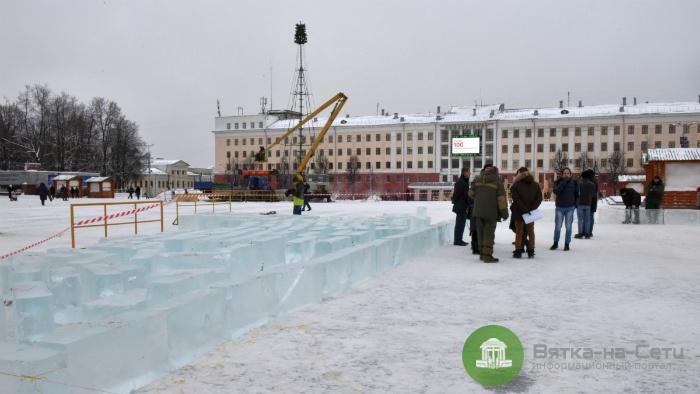 Лед для городка на Театральной площади привезут из Пермского края и Тюменской области