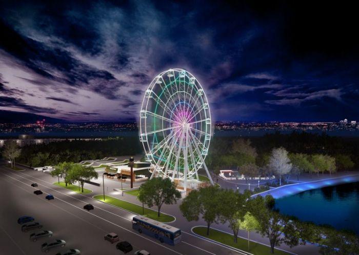 Стала известна приблизительная дата окончания строительства нового колеса обозрения