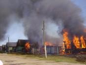 Пожар в Кировской области уничтожил полдеревни