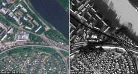 Последствия аварии на станции Поздино сфотографировал спутник