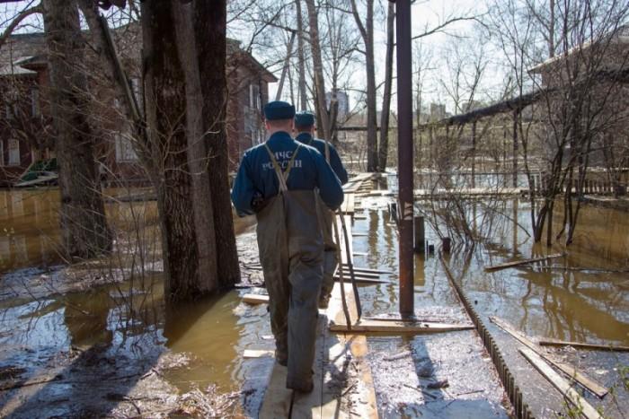 За праздники уровень воды в Вятке опустился на 39 см