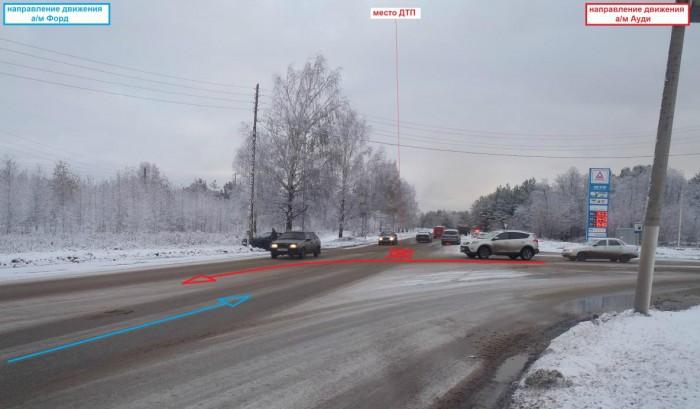 В Кирове водитель Audi не уступил дорогу Ford
