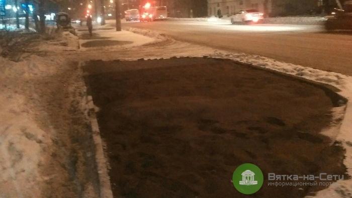 В мэрии ответили на жалобы кировчан на укладку тротуаров на улицах Красина и Воровского