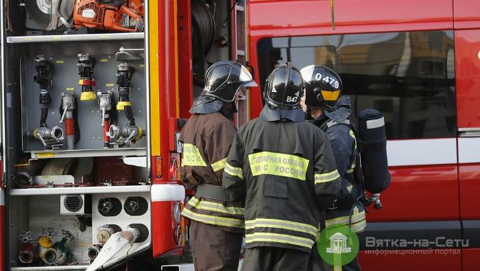 В Немском районе при пожаре погиб человек