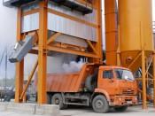 В Унинском районе запущен новый асфальтобетонный завод
