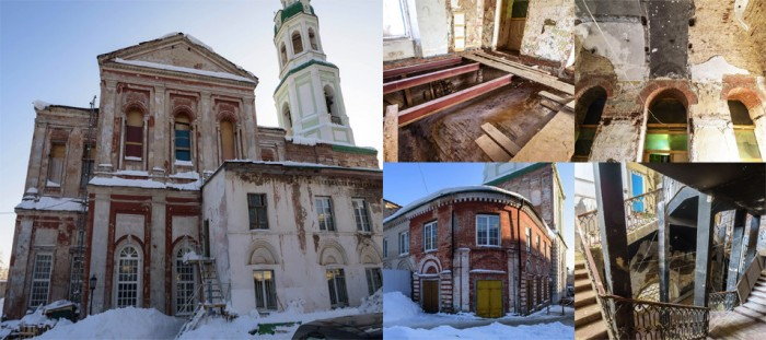 Началась работа по реставрации куполов Спасского собора