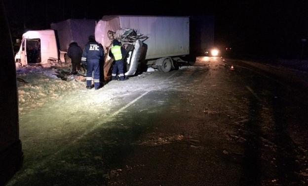 В Омутнинском районе произошло лобовое столкновение грузовиков