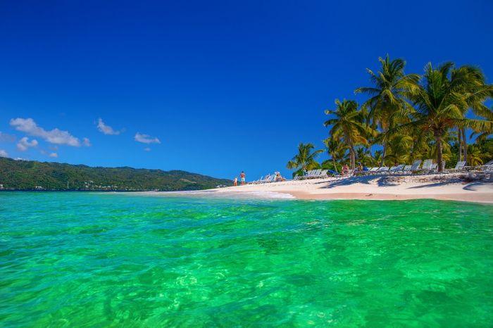 Тропический остров Саона в Доминиканской Республике