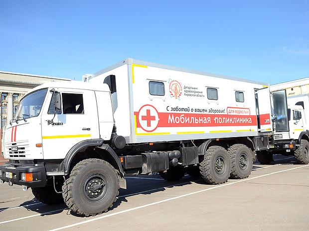 «Мобильные поликлиники» отправятся по районам области