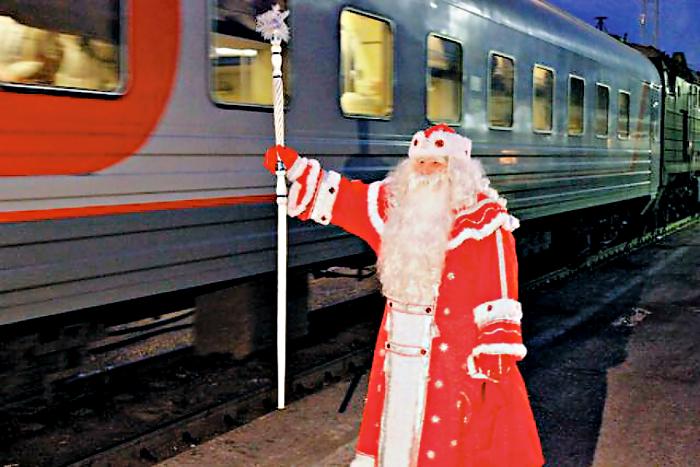 Новый год с ребенком на поезде
