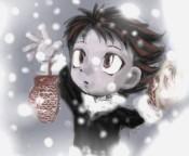 За окошком в белом поле сумрак, ветер, снеговей...
