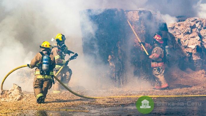 В Белохолуницком районе при пожаре погиб мужчина