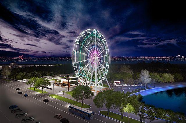 Новое колесо обозрения установят у цирка