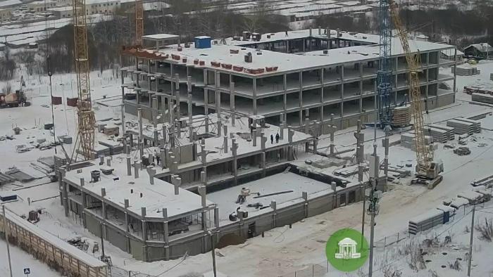 Строительство школы в Чистых прудах