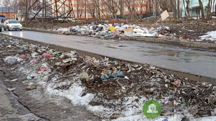 В мэрии прокомментировали стихийную свалку на улице Дзержинского