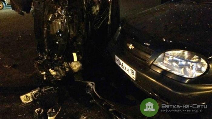 Ночью в Кирове произошло массовое ДТП, три человека пострадали