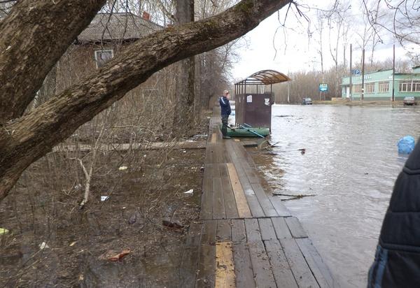 Уровень воды в Вятке составил +490 см от «нулевого» поста
